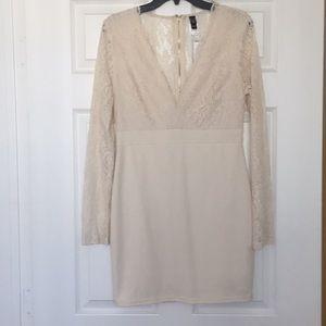 Windsor Bodycon Cream Lace Dress